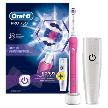 Pro 750 Cross Action Diş Fırçası Pembe-Oral-B